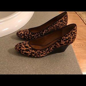 Nine West Calf Hair Cheetah Wedges